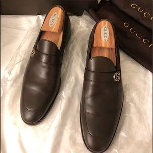 Gucci New Saddle Calf Cocoa mens shoes